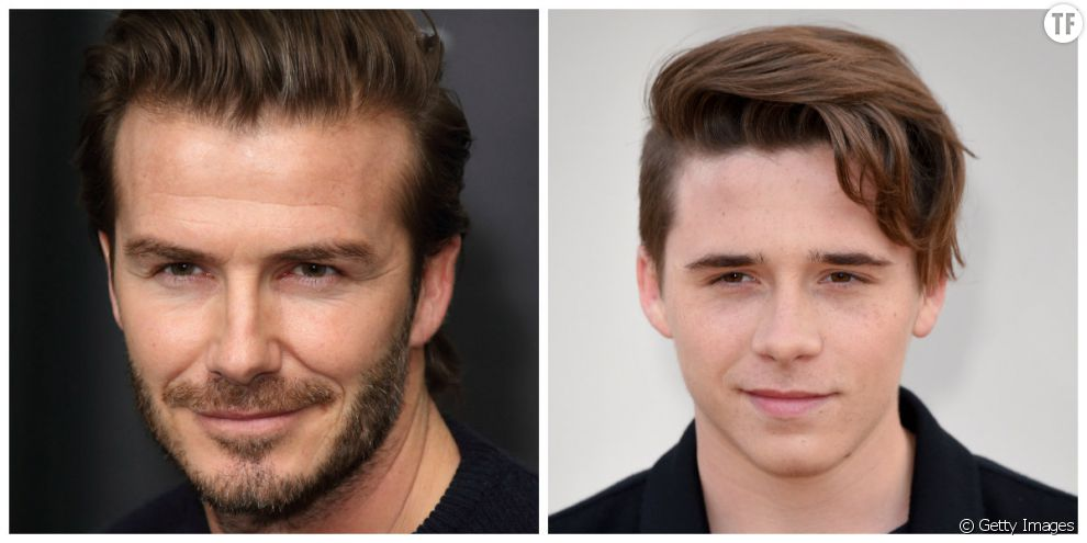 David Beckham et son fils aîné Brooklyn Beckham