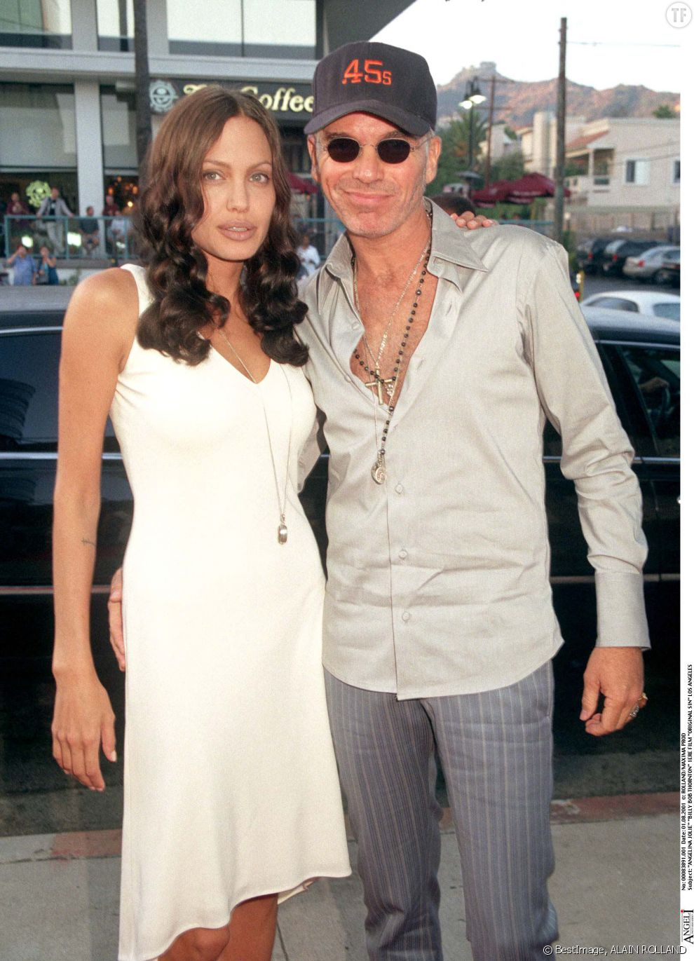 Angelina Jolie et son ex-mari Billy Bob Thornton en 2001