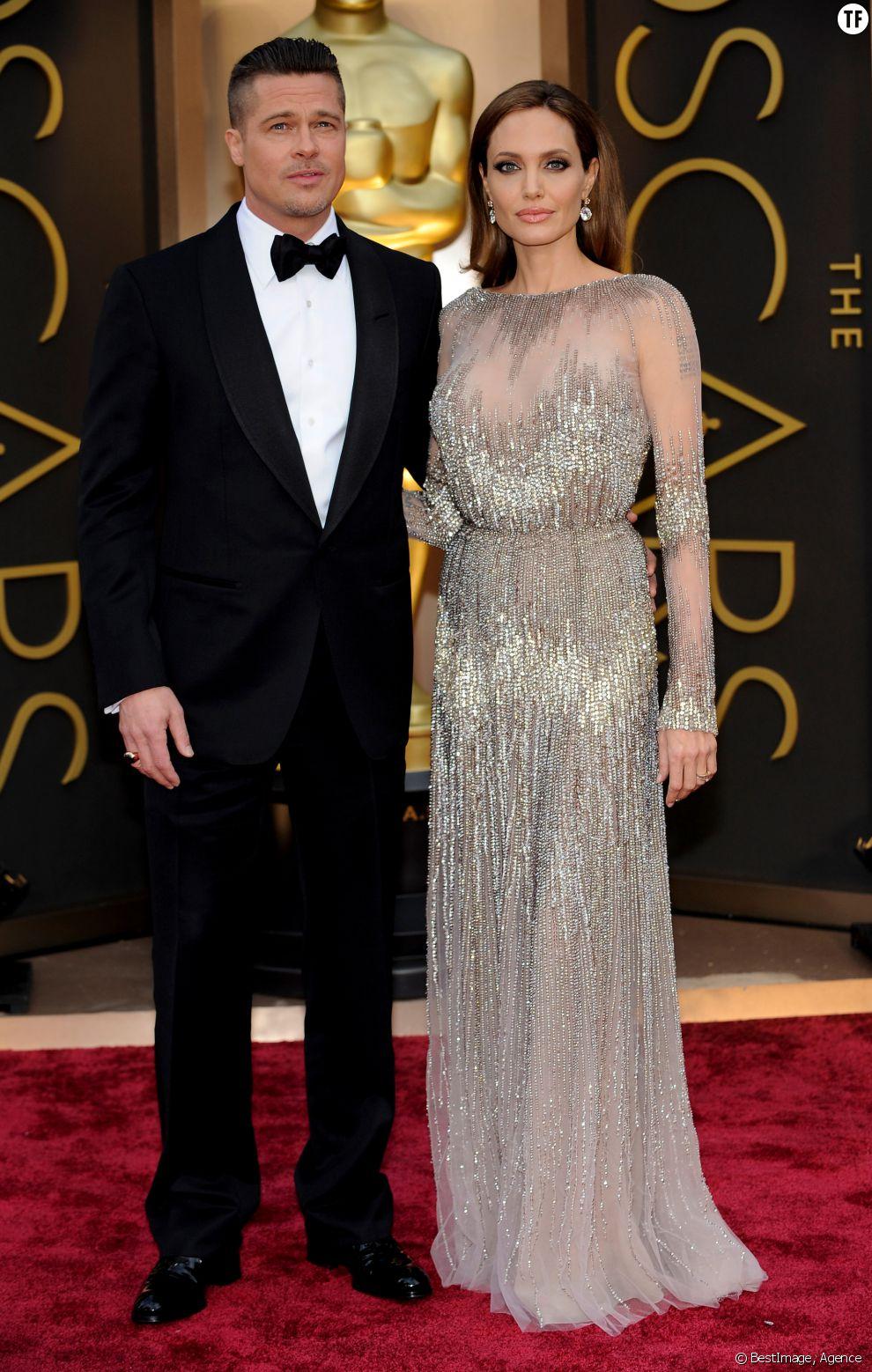 Brad Pitt et Angelina Jolie à la cérémonie des Oscars 2014
