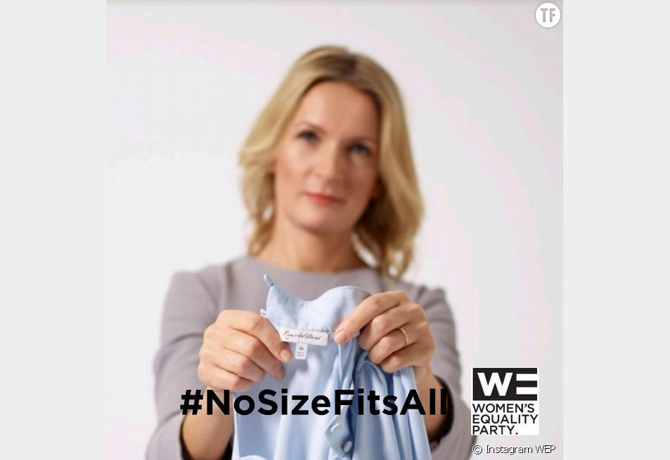 "#NoSizeFitsAll lancée par la WEP (""Women's Equality Party"")"
