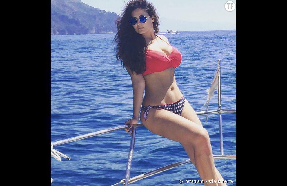 """Paola Torrente, la première dauphine de Miss Italie à la silhouette renversante, répond aux critiques qui la jugent """"trop grosse""""."""
