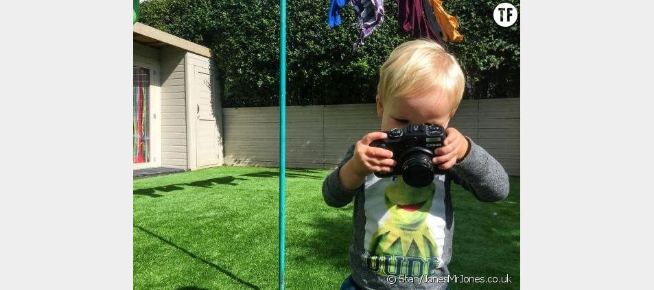 Voici Stan, un bébé photographe de 19 mois