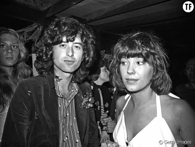 Pamela De Barres et Jimmy Page du groupe Led Zepellin