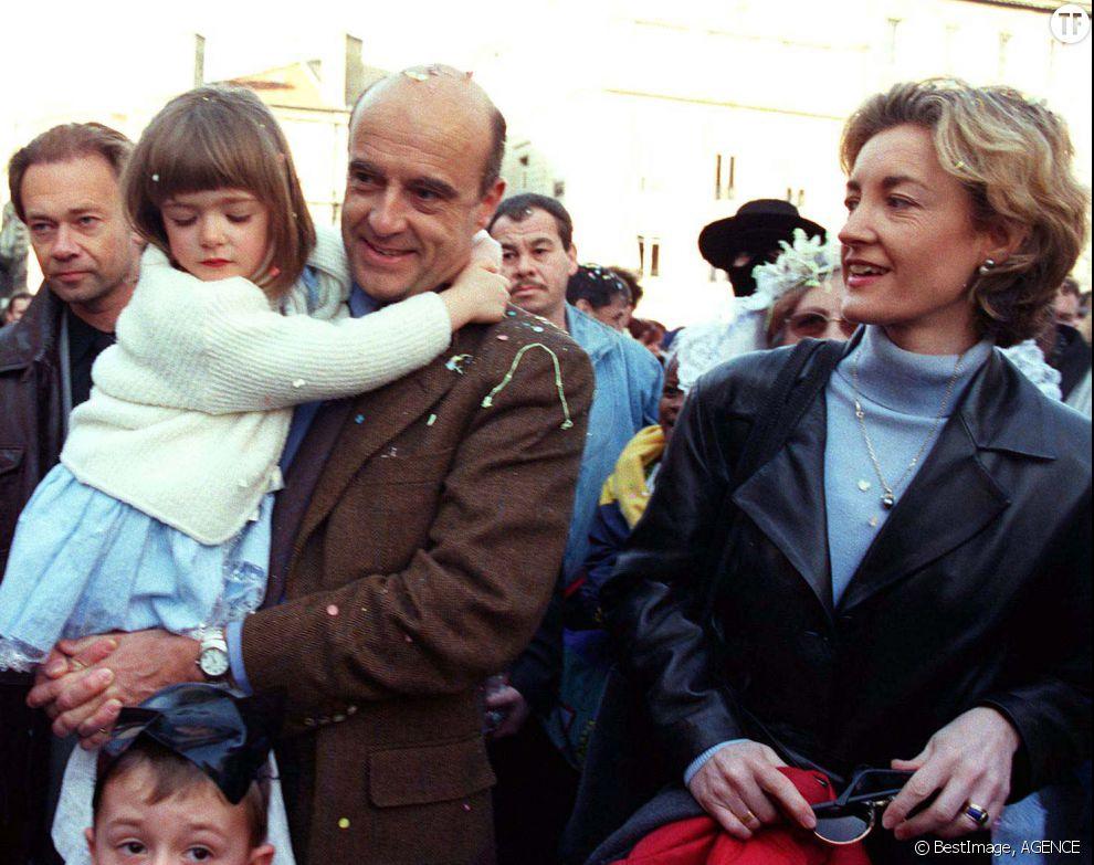 Alain Juppé, sa femme Isabelle et leur fille Clara en 2000