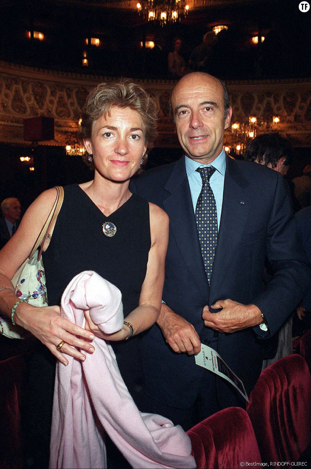 Alain Juppé et sa femme Isabelle Legrand-Bodin en 2002