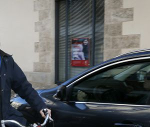Alain Juppé et son épouse Isabelle Legrand-Bodin dans les rues de Bordeaux en 2015