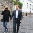 Emmanuel Macron et sa femme Brigitte Trogneux