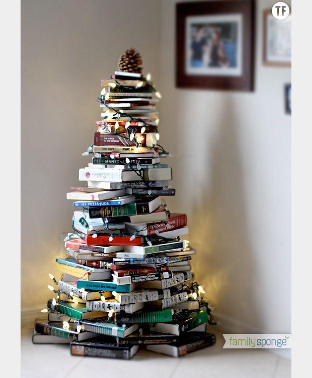 Sapin de Noël en livres