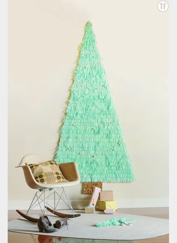 Arbre de Noël en papier de soie