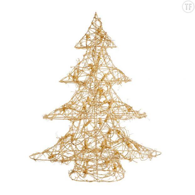 Arbre de Noël en métal doré