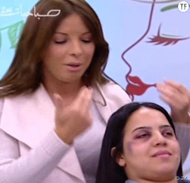 Au Maroc une démonstration de maquillage pour femmes battues fait scandale