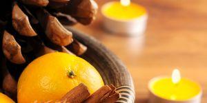 DIY de Noël : comment faire une bougie avec une clémentine