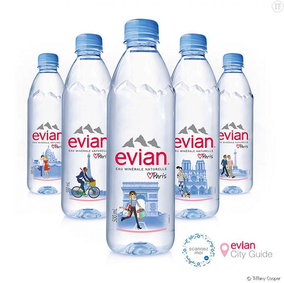 La nouvelle série d'eau en bouteilles de la marque Evian