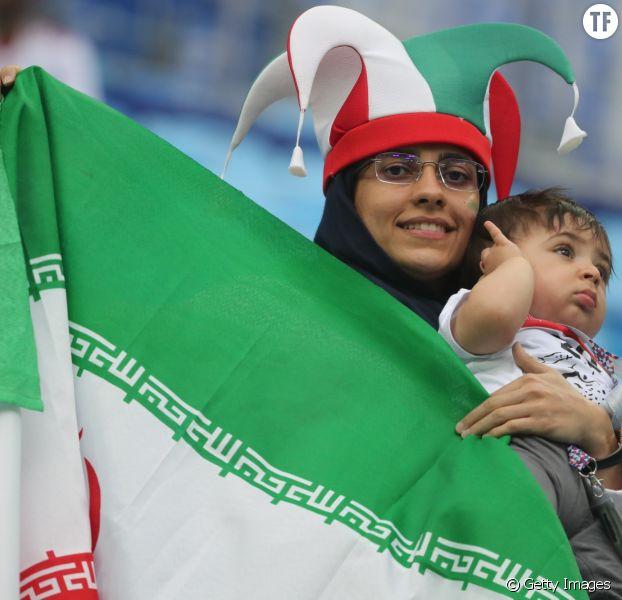 Supportrice iranienne au match Maroc-Iran, vendredi 15 juin, Coupe du Monde 2018 (Russie)