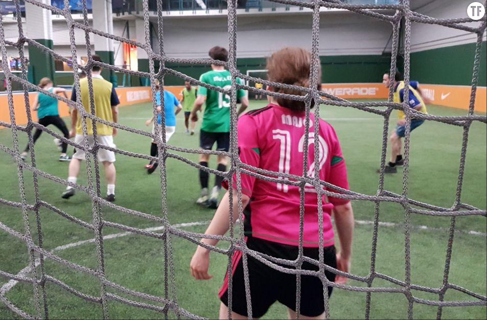 Les joueurs et les joueuses de l'associaiton les Sportif·ve·s en pleine action