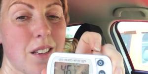 Elle s'enferme dans sa voiture pour alerter les propriétaires de chiens