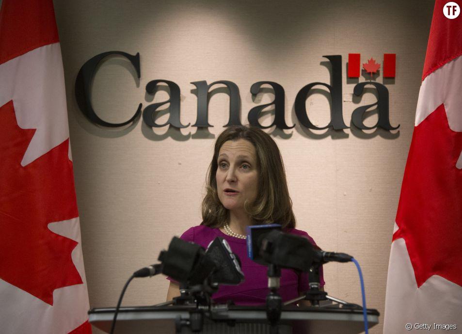 La ministre des Affaires Etrangères canadiennes Chrystia Freeland