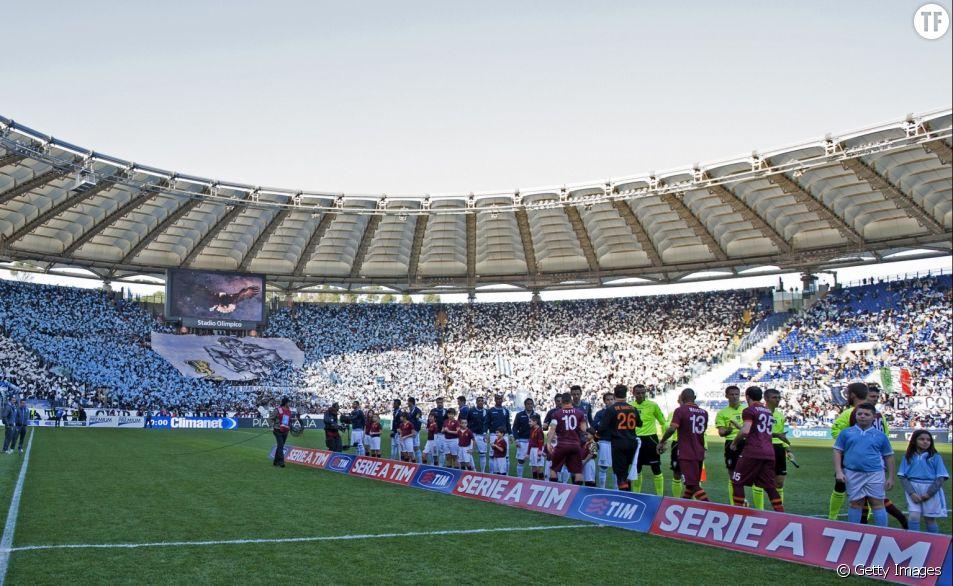 Match entre l'AS Rome et la Lazio en février 2014 au Stade olympique de Rome