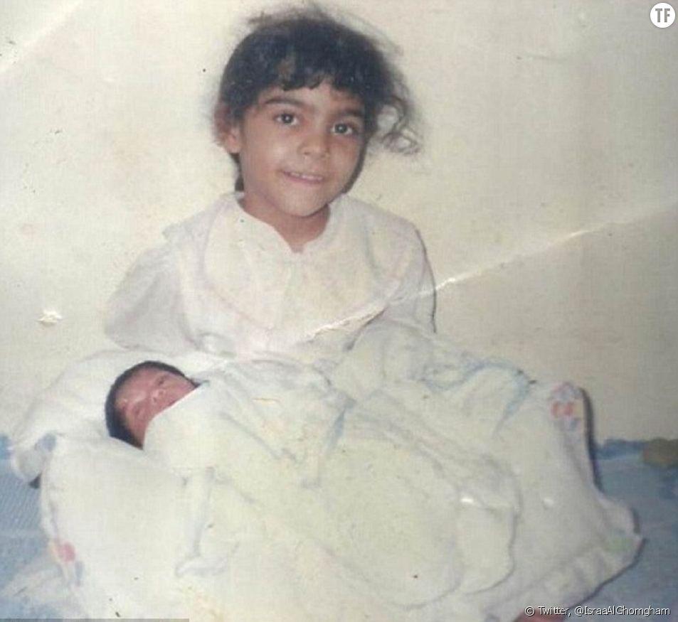 Seule photo disponible de la militante Israa al-Ghomgham enfant