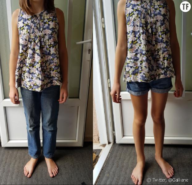 Les photos de la jeune fille postées par sa maman