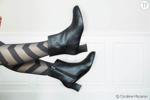 Caroline Macaron, première de chaussures Made in France pour les femmes souffrant d'hallux valgus.