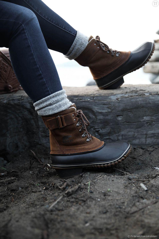 Les bottes de montagne, la nouvelle tendance de l'hiver.