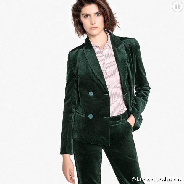 Blazer en velours, La Redoute Collections chez Galeries Lafayette