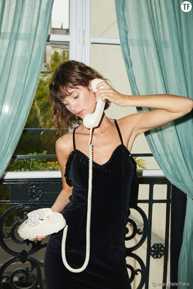 Robe en velours et perles, Chantal Thomas chez Imparfaite Paris