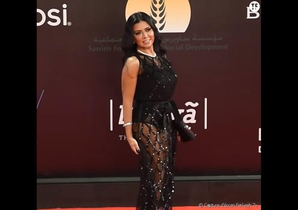 Rania Youssef en robe transparente