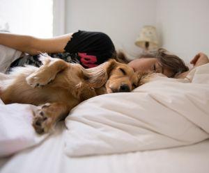 Les femmes dormiraient mieux avec un chien qu'avec un humain