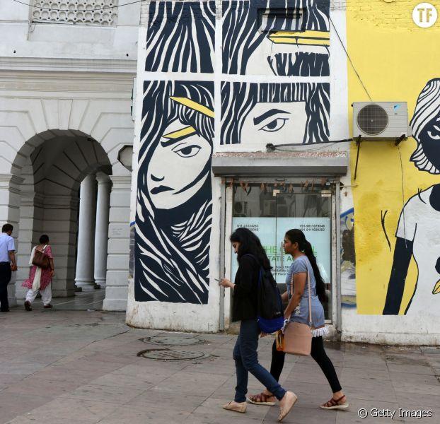 Un graffiti pour lutter contre les viols sur les enfants en Inde