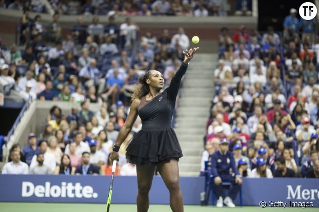 Serena Williams en tutu contre Naomi Osaka à l'US Open le 8 septembre 2018