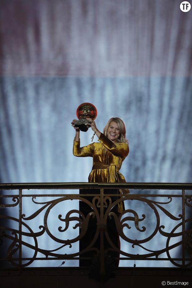 Ada Hegerberg (Ballon d'or féminin 2018) le 3 décembre 2018.