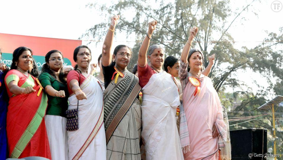 Des femmes de l'Etat du Kerala le 1er janvier