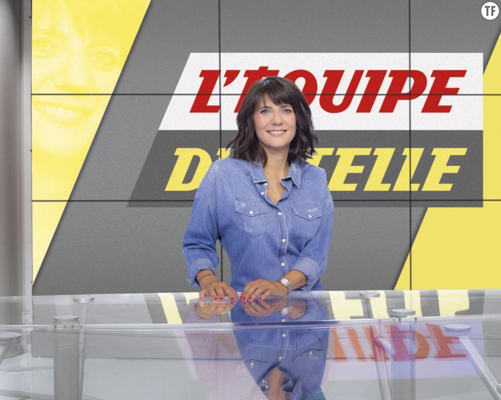 Estelle Denis, présentatrice sur L'Equipe TV