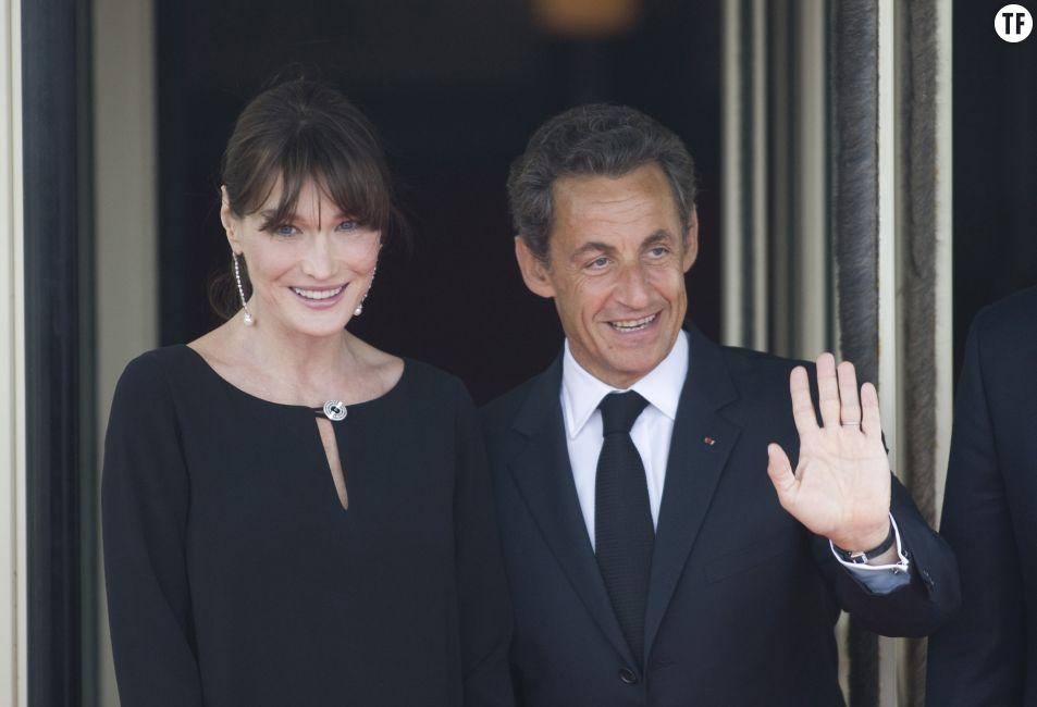 """Carla Bruni et Nicolas Sarkozy. """"Ce n'est pas la taille qui compte"""". Getty Images."""