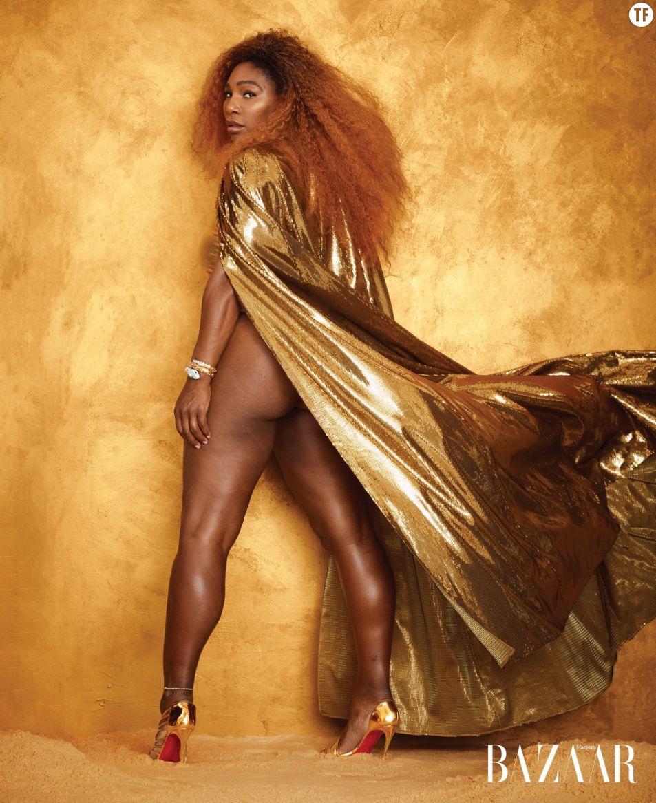 Serena Williams non-retouchée sur Harper's Bazaar