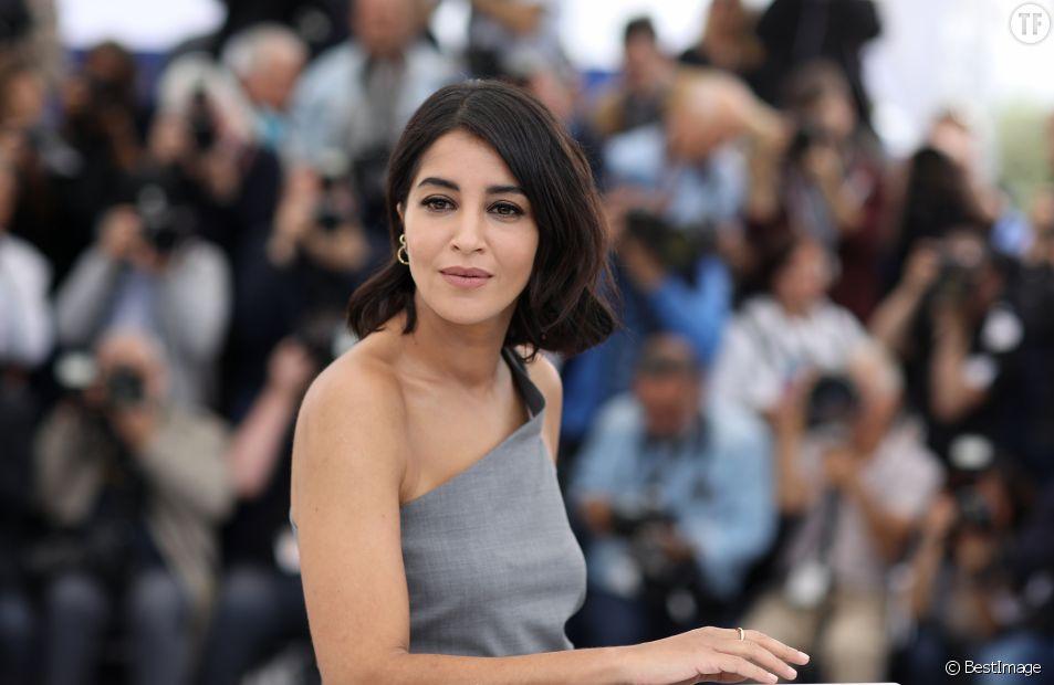 """Leïla Bekhti au photocall du film """"La Fameuse Invasion des ours en Sicile"""" lors du 72ème Festival International du Film de Cannes, France, le 21 mai 2019."""