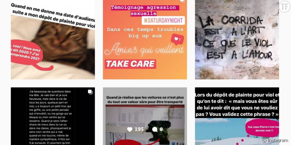 Capture écran du compte Instagram T'as dit non