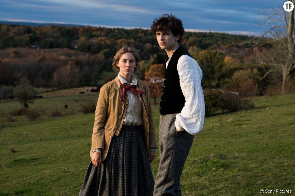 Saoirse Ronan (Jo March) et Timothée Chalamet (Laurie)