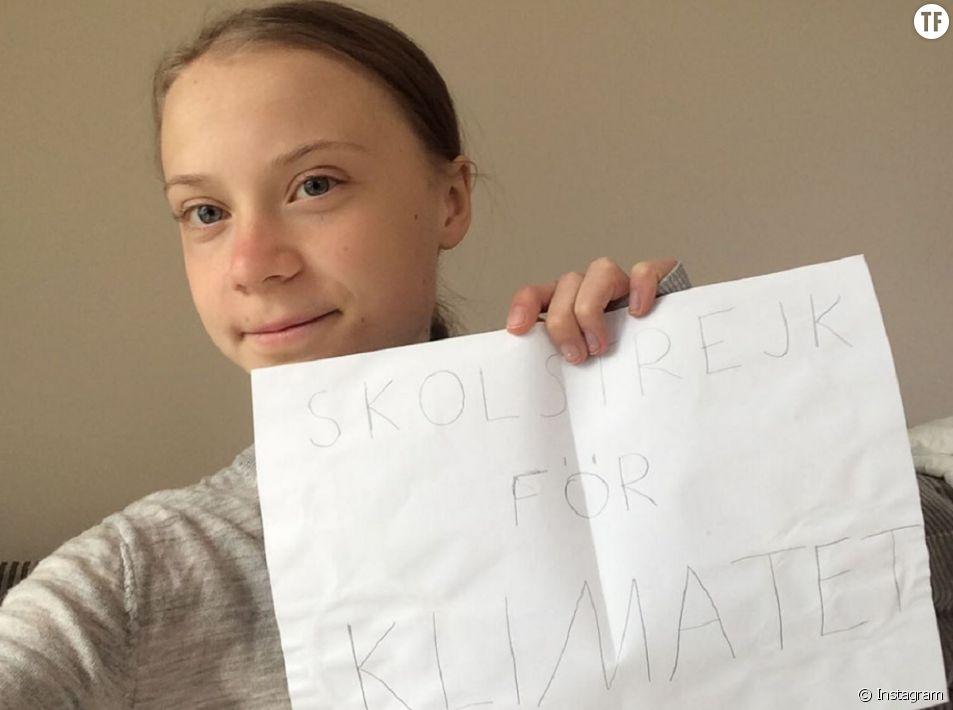 Même confiné, le combat de Greta Thunberg se poursuit.