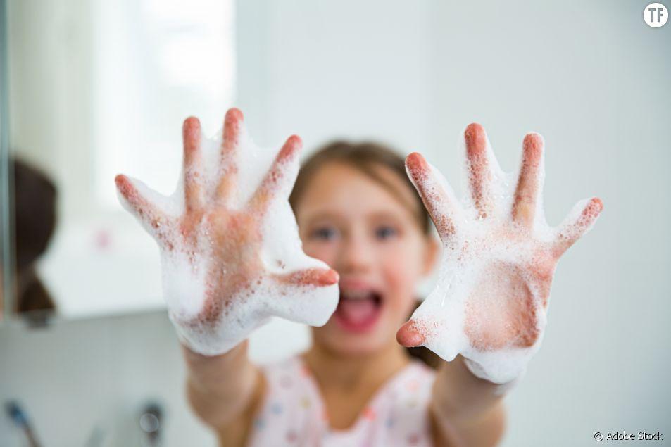 Se laver les mains à l'école