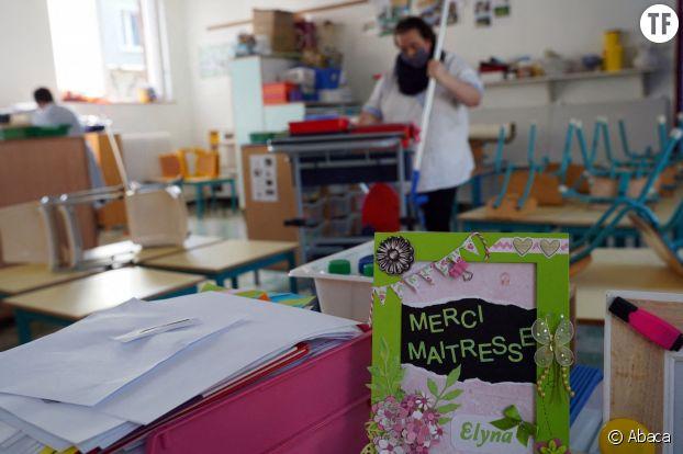 Désinfection d'une école à Lille