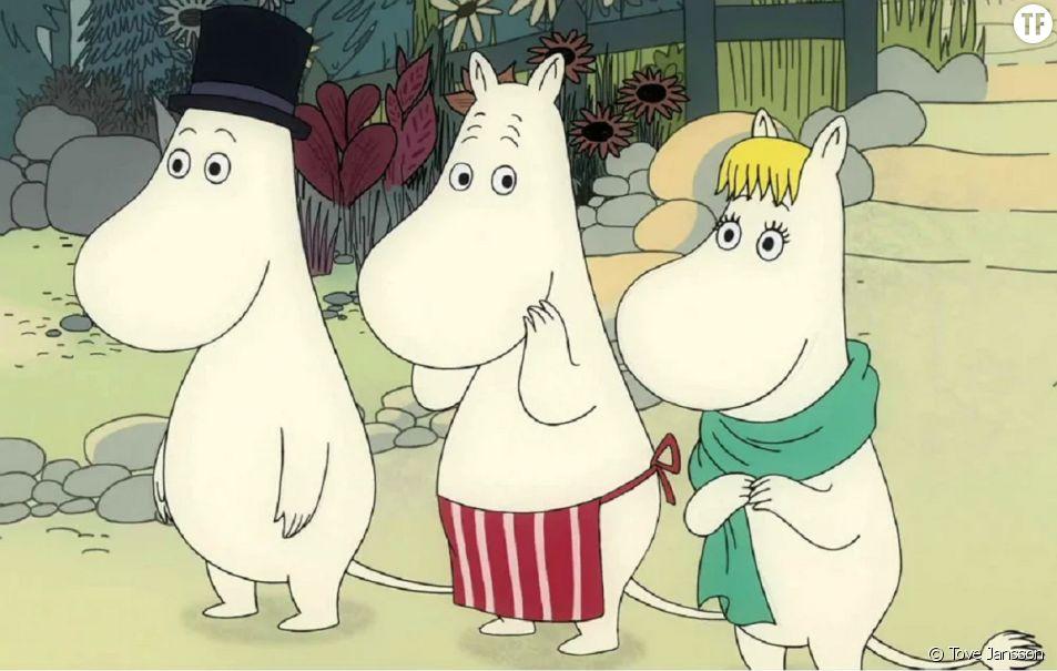 """Les Moomins"", une création emblématique, en bédés, et en dessins animés."