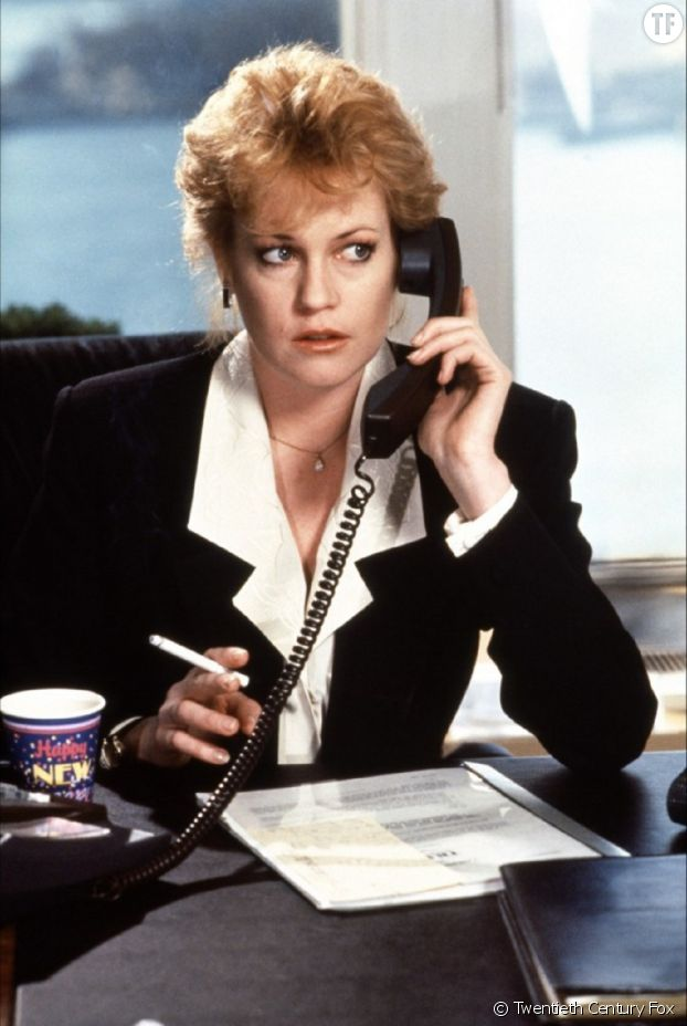 """Melanie Griffith, secrétaire devenue patronne dans """"Working Girl""""."""