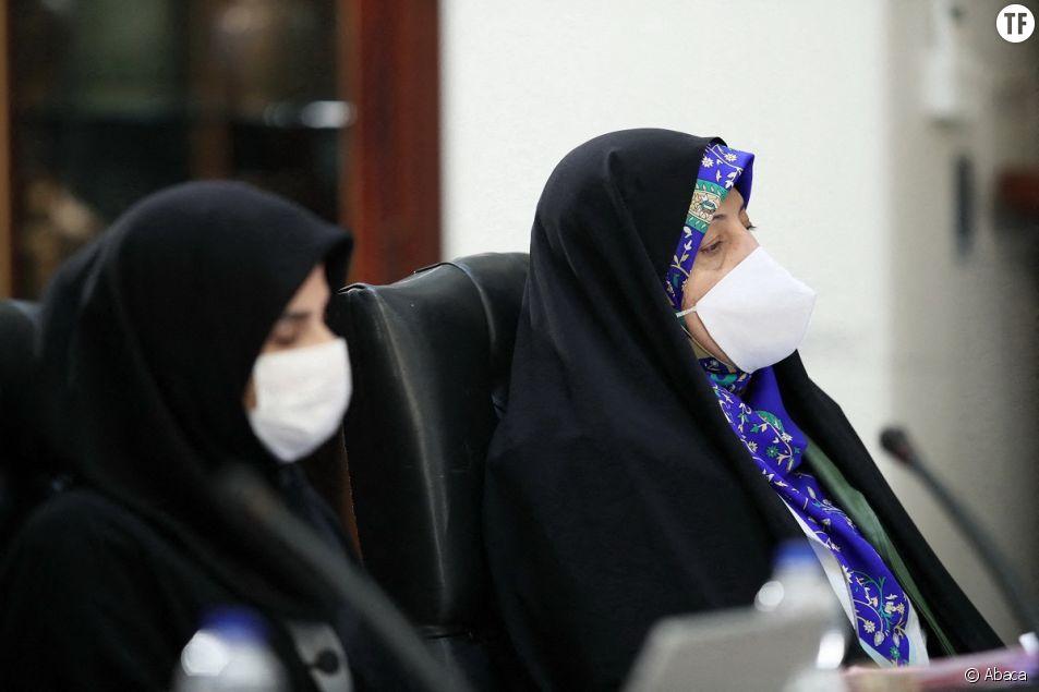 Portrait le 8 avril 2020 de la vice-présidente pour les droits des femmes Massoumeh Ebtekar.