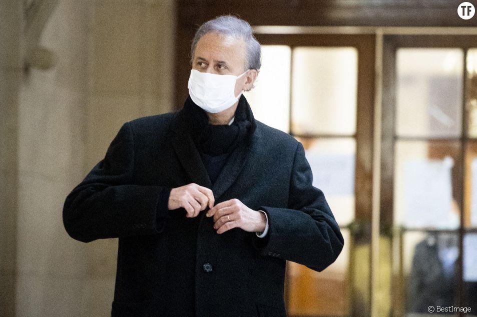 Georges Tron au tribunal dans le cadre de son procès en appel pour viol et agressions sexuelles à Paris le 28 janvier 2021.