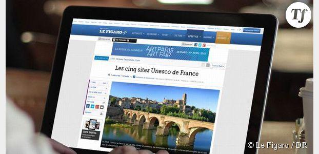 Un nouveau site Internet plus moderne pour Le Figaro