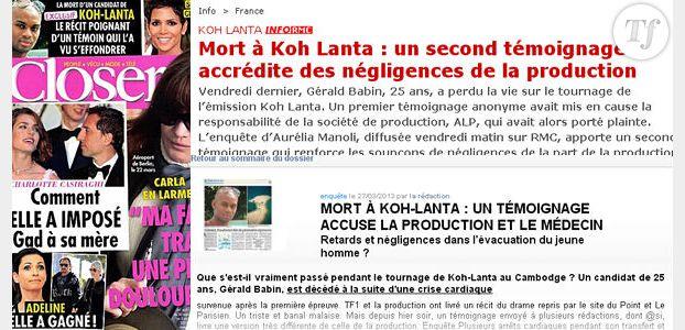Koh-Lanta 2013 - Suicide du médecin Thierry Costa : les médias sont-ils responsables ?