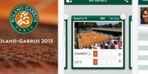 Roland-Garros 2013 : application pour suivre les matchs en direct sur iPhone et iPad